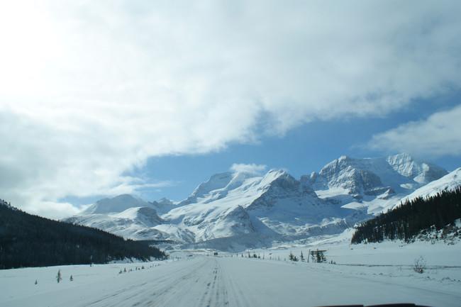 Carretera campos hielo Canadá