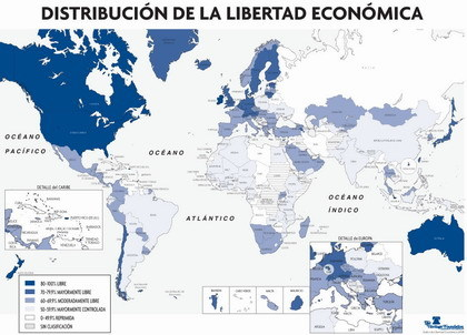 Mapa Libertad Económica 2008