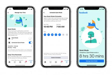 Facebook añade un modo silencioso que pausa las notificaciones hasta nuevo aviso