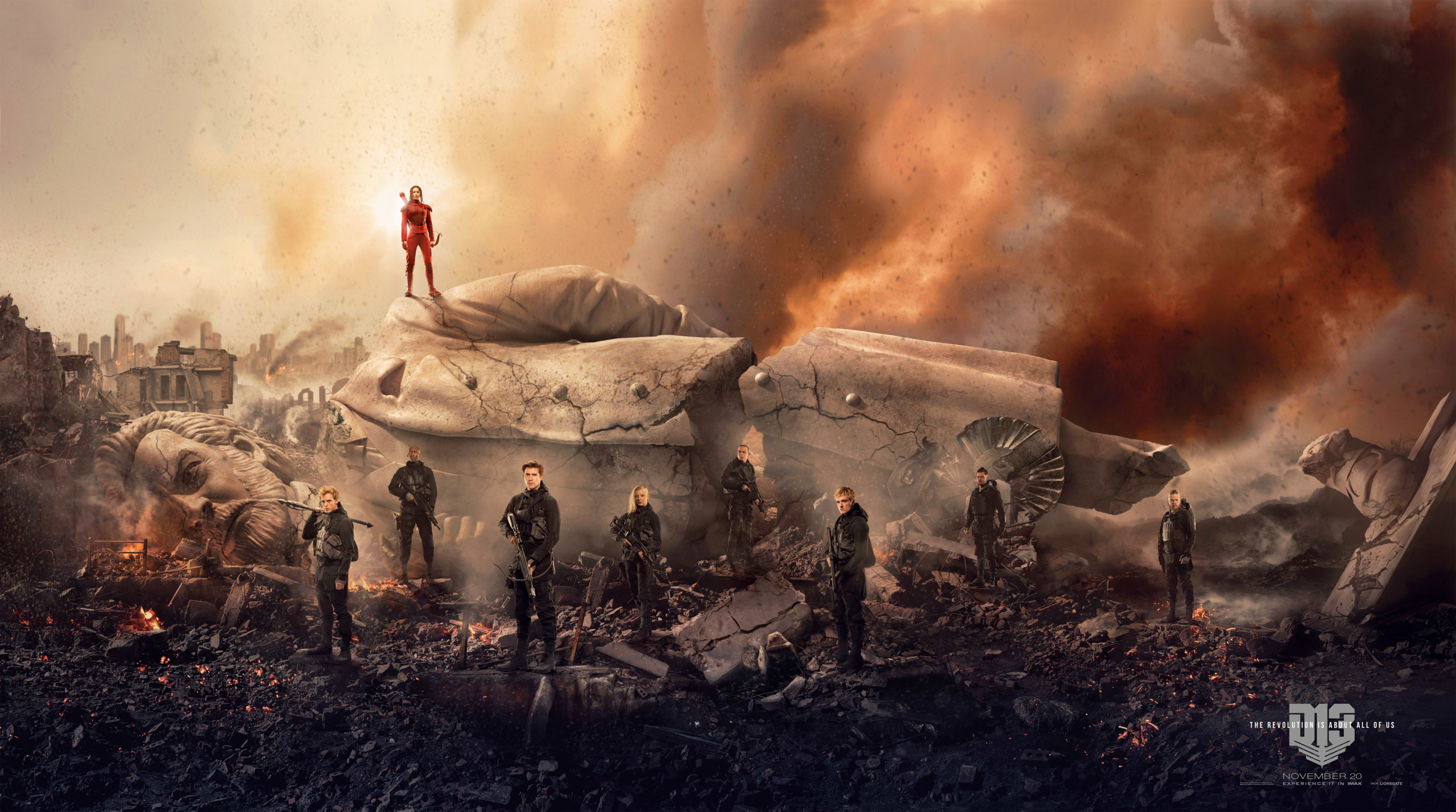 'Los Juegos del Hambre: Sinsajo - Parte 2', póster banner gigante del final de la saga
