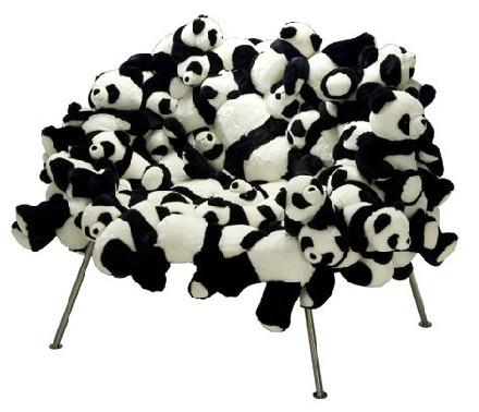 Sillón de pandas