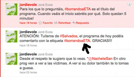 Análisis de un Trending Topic: #borrandoaeta