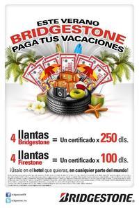 Bridgestone paga tus vacaciones de verano