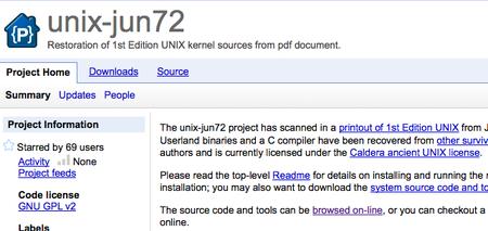 Quieres leer código, pues toma dos tazas: unix-jun-72