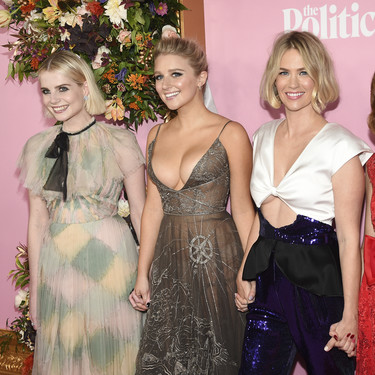 "Lucy Boynton, January Jones y Gwyneth Patrow en la premiere de ""The Politician"" podrían inspirarte en tus próximos looks de invitada"