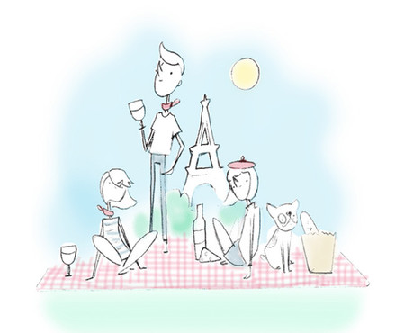 El picnic chic de Paris Picnic, para recuperar el placer de comer descalzos sobre la hierba