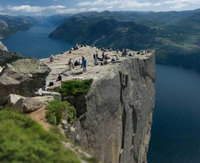 La Roca del Púlpito, Noruega