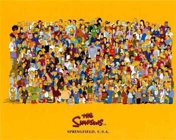 Los Simpsons: póster de los personajes