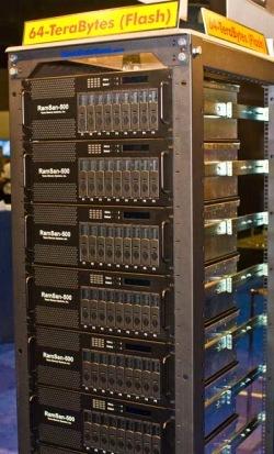 RAID de 64 TB de almacenamiento flash