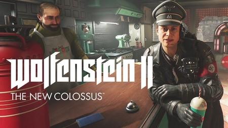 Wolfenstein II deja aparcada su acción frenética y nos muestra a un nazi tomándose un batido de fresa junto a una bomba atómica
