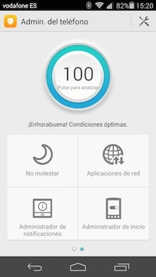 Apps administración y gestión Ascend P7