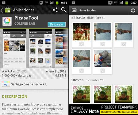 Sincroniza tus fotos de Picasa con tu móvil Android