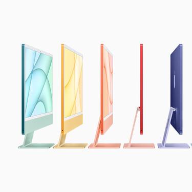 Los Apple iMac (2021) se renuevan: presumen de chip M1, webcam 1080p, y de un sorprendente y alegre diseño externo