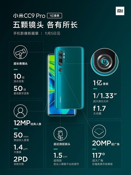 Xiaomi Mi Cc9 Pro Camaras