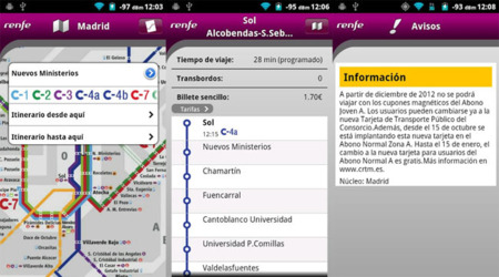 Renfe para Android