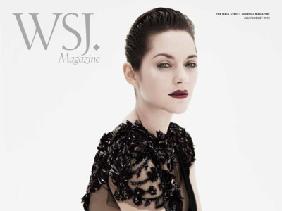 Elegance: Marion Cotillard in WSJ and Miranda Kerr in Harper's Bazaar
