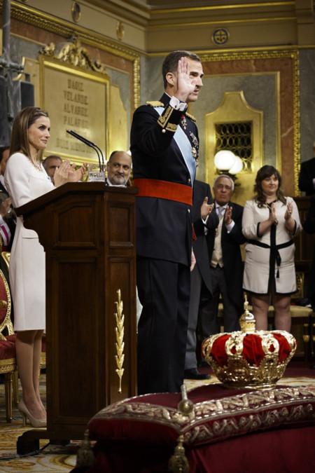 Corona Felipe VI Letizia Ortiz rey reina