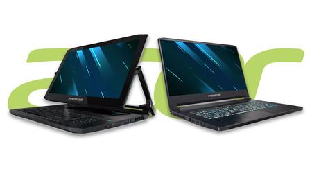 Acer Predator Triton 500 y Triton 900: un portátil fino y ligero y un convertible con pantalla 4K amplían la familia gamer de Acer