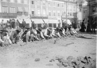 El origen de los adoquines de las aceras de Lisboa