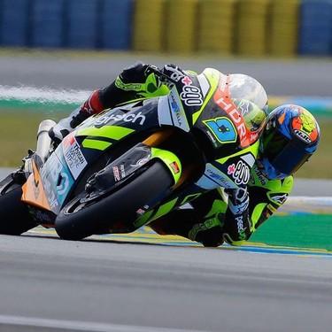 Jorge Navarro se sobrepone a la falta de ritmo y una caída para conseguir su segunda pole seguida en Moto2