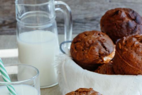 Muffins de chocolate y Corn Flakes. Receta para el regreso a clases