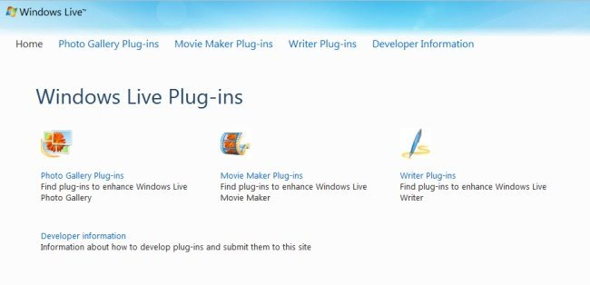 Windows Live Plugins
