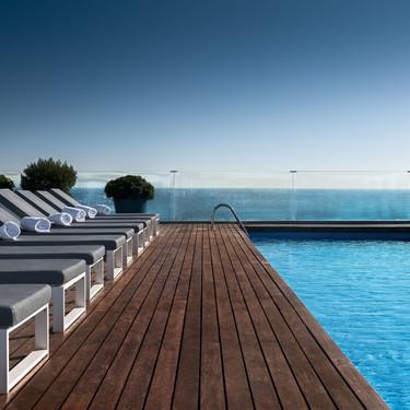 Las vistas panorámicas de la terraza del AC Barcelona Forum muestran la ciudad en todo su esplendor
