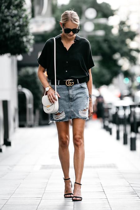 Minifalda Denim Combinarla Verano 03