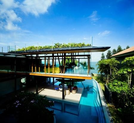 Lujo asiático en la Fish House de Singapore