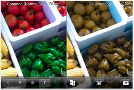 Comprueba como es la visión de un daltónico con esta app para el iPhone