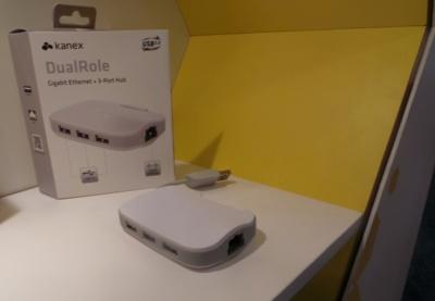 Kanex presenta DualRole un Hub USB 3.0 con Gigabit Ethernet