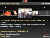Cliente de Youtube para BlackBerry Storm