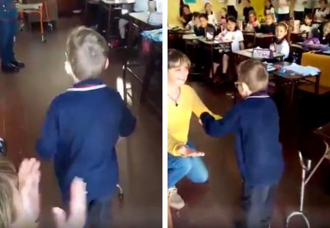 """""""Que ande solo"""", coreaban sus compañeros a Nacho, con parálisis cerebral, y él lo logró"""