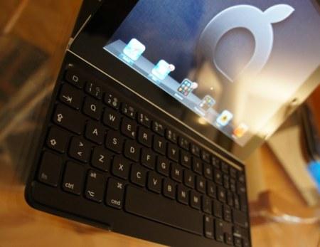 Detalle del teclado y de lo bien que le sienta al iPad negro