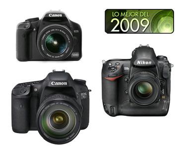 Canon 500D, Canon 7D y Nikon D3s, mejores réflex de 2009