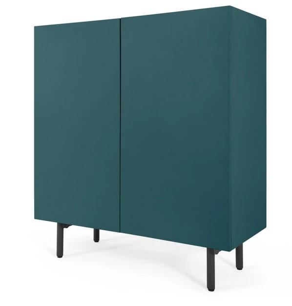 Mueble de almacenamiento Mino de MADE Essentials, azul cerceta y roble