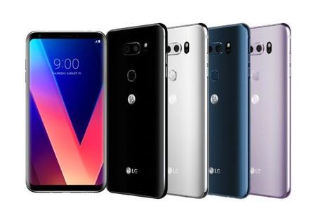 LG V30 en sus cuatro colores