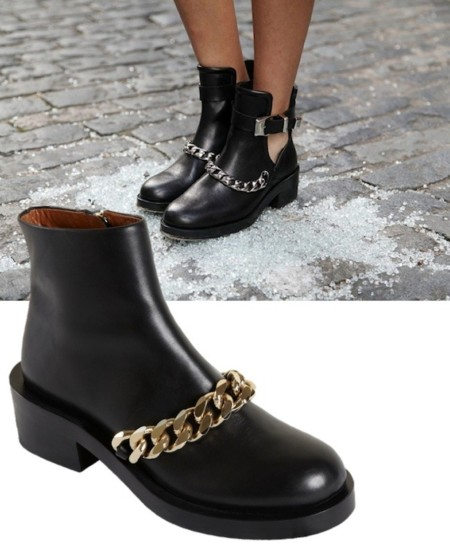 sandro botas vs givenchy