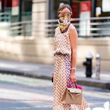 Salvador Bachiller se inspira en el truco de estilo de Olivia Palermo y lanza una colección de mascarillas pañuelo