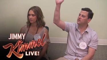 ¿Quién no querría ir a una clase de preparación al parto con Jimmy Kimmel y Jessica Alba?