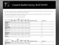 Apple pregunta a los desarrolladores sobre Leopard en una encuesta pública de su web