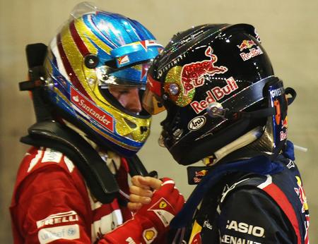 Sebastian Vettel y Fernando Alonso 2012
