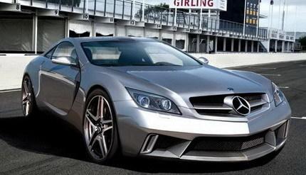 Recreación del Mercedes SLC