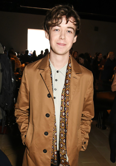 Alex Lawther Wearing Burberry At The Burberry Menswear January 2016 Show 1