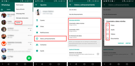 Whatsapp Memoria Llena descarga automática