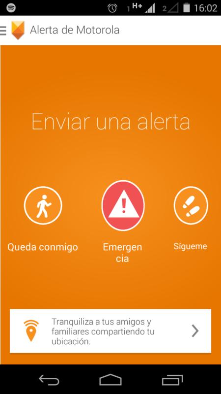 Motorola Moto E Alerta