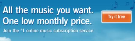 Rhapsody mueve ficha y baja su cuota a 10 dólares mensuales