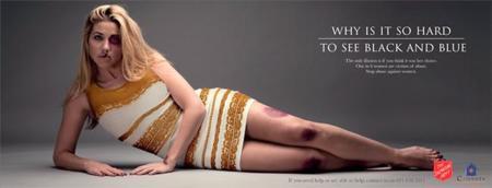 El vestido más famoso se convierte en un alegato contra la violencia de género