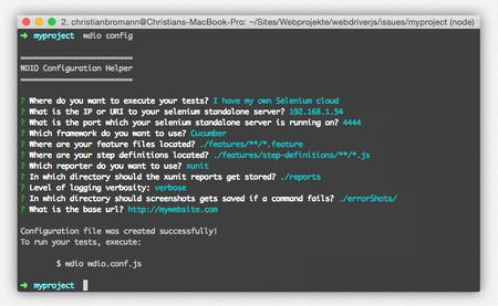 Easy Test Setup con Webdriverio