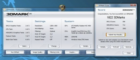 Dell Studio 15 en 3DMark06